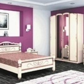 Спальный гарнитур ВИКТОРИЯ (ЛАК) (для кроватей цвета дуб молочный)