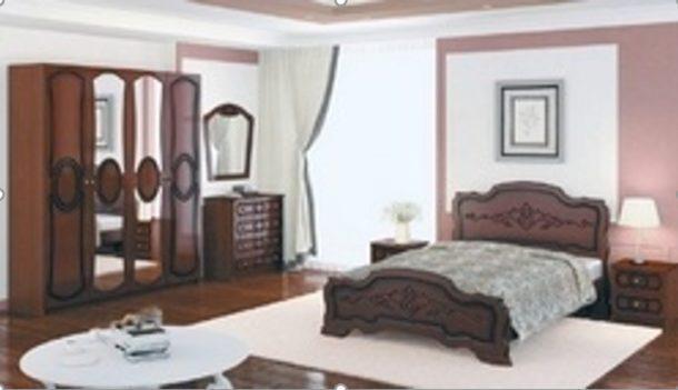 Спальный гарнитур ИДИЛЛИЯ (Орех) (для кроватей цвета орех)