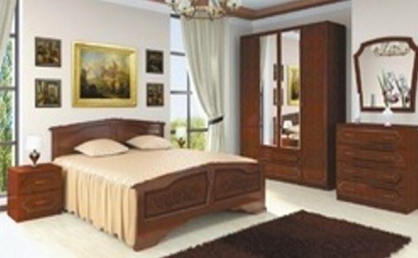 Спальный гарнитур ЛАКИРОВАННЫЙ (Орех) спальный гарнитур (для кроватей цвета орех)