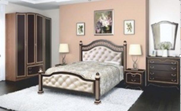 Спальный гарнитур ОНИКС (ЛАК) (для кроватей цвета орех темный)