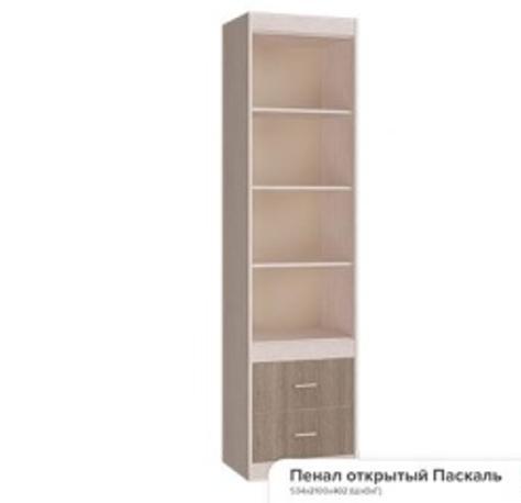 """""""Паскаль"""" шкаф открытый, закрытый (534х2100х402)"""