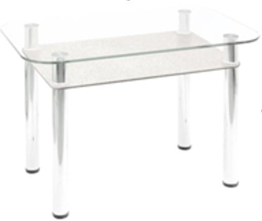 Стол обеденный с полкой (стекло)