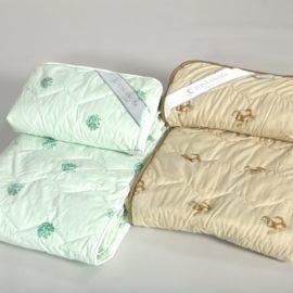 Одеяло 1,5 сп. шерсть поплин